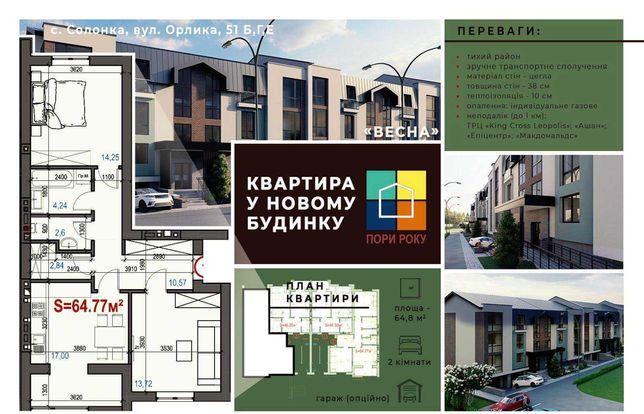 Продаж 2 кім Солонка (біля церкви) вул. Стрийська