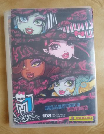 Caderneta completa Monster High da Panini