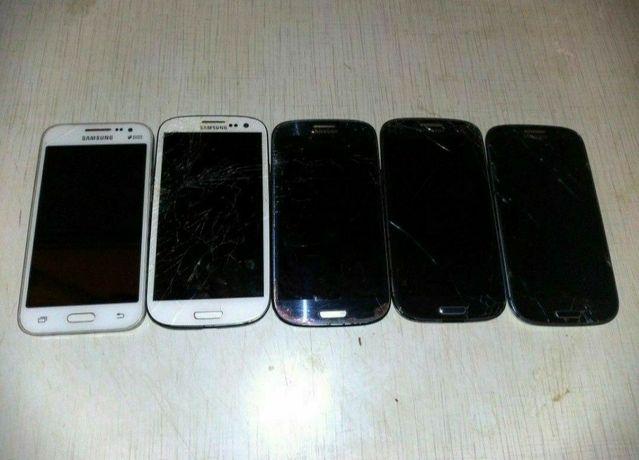 Телефоны на запчасти фирмы Samsung.