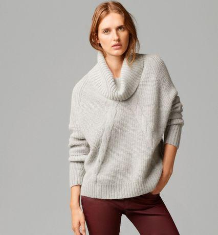 Sweter mocherowy Massimo Dutti* stan idealny S/36
