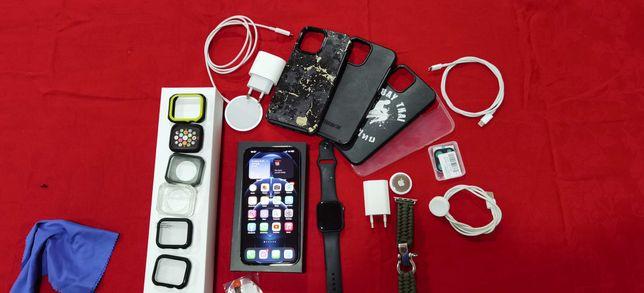 Apple iPhone 12 pro max graphite 128GB com apple watch 5