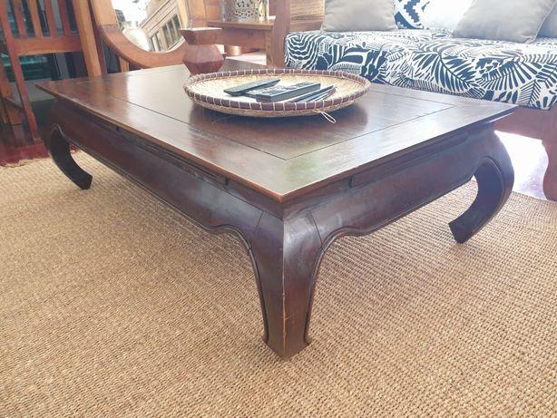 mesa, centro, apoio, sala, oriental,  rustico