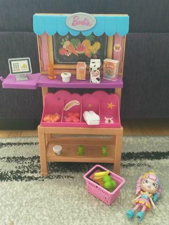 stragan sklepik barbie Mattel zestaw akcesoriów