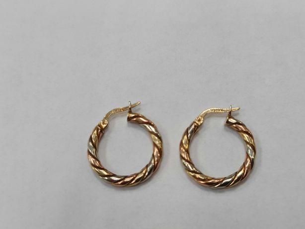 Piękne złote kolczyki damskie/ 417/ 3.56 gram/ Lite złoto/ Gdynia