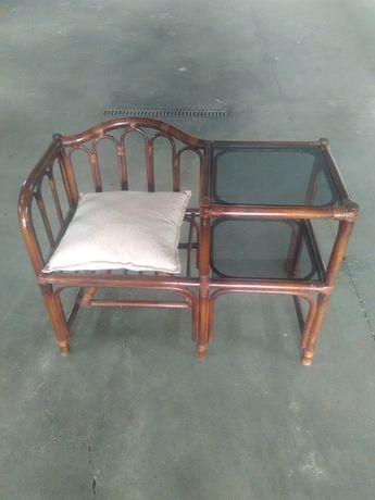 Cadeira/mesa de bambu