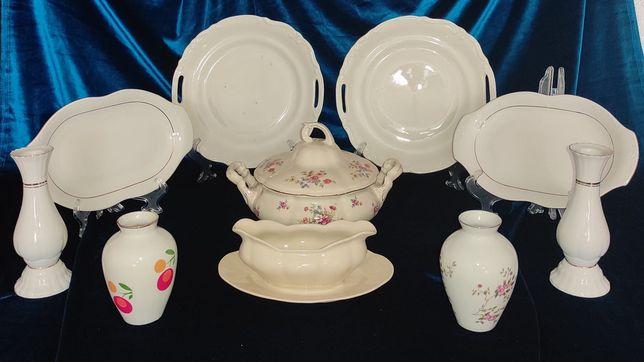 Chodzież porcelana waza wazon świecznik sosjerka patera półmisek