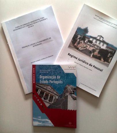 Conjunto de 3 manuais do CEFA