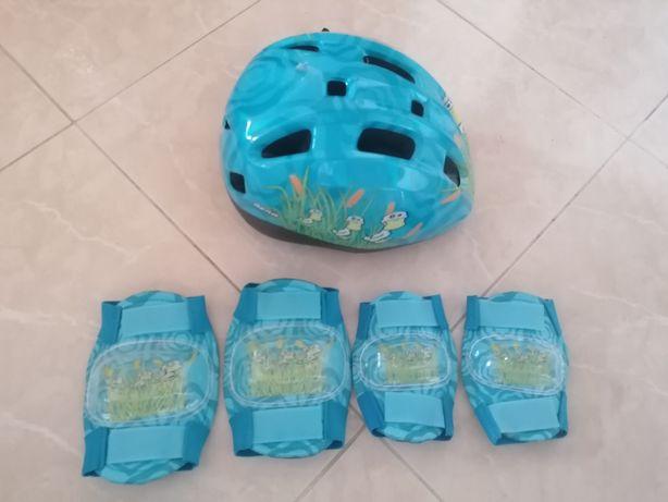Kit proteção patinagem/bicicleta infantil NOVO