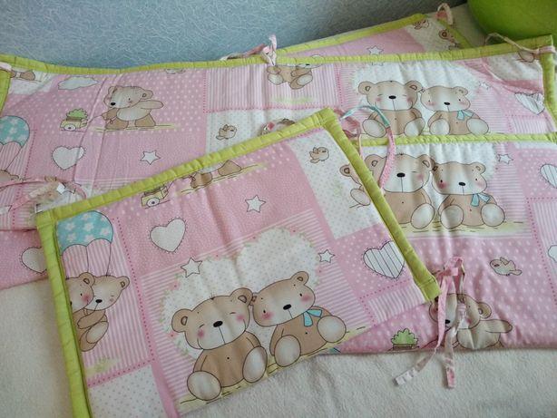 Бортики для детской кроватки + подарок