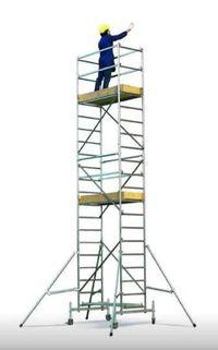 Andaime Torre de Alumínio Móvel c/ Rodas Certificado até 10,18 metros