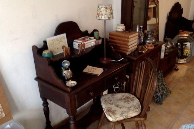 Escrivaninha/Fantástico toucador/Secretária em mogno
