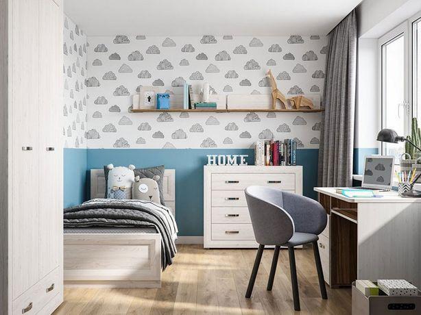 Детская комната. Шкаф, кровать, стол, комод, полка. Сборка бесплатно
