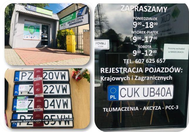 Rejestracja Pojazdów Krajowych I Zagranicznych / Akcyza/ Tłumaczenia
