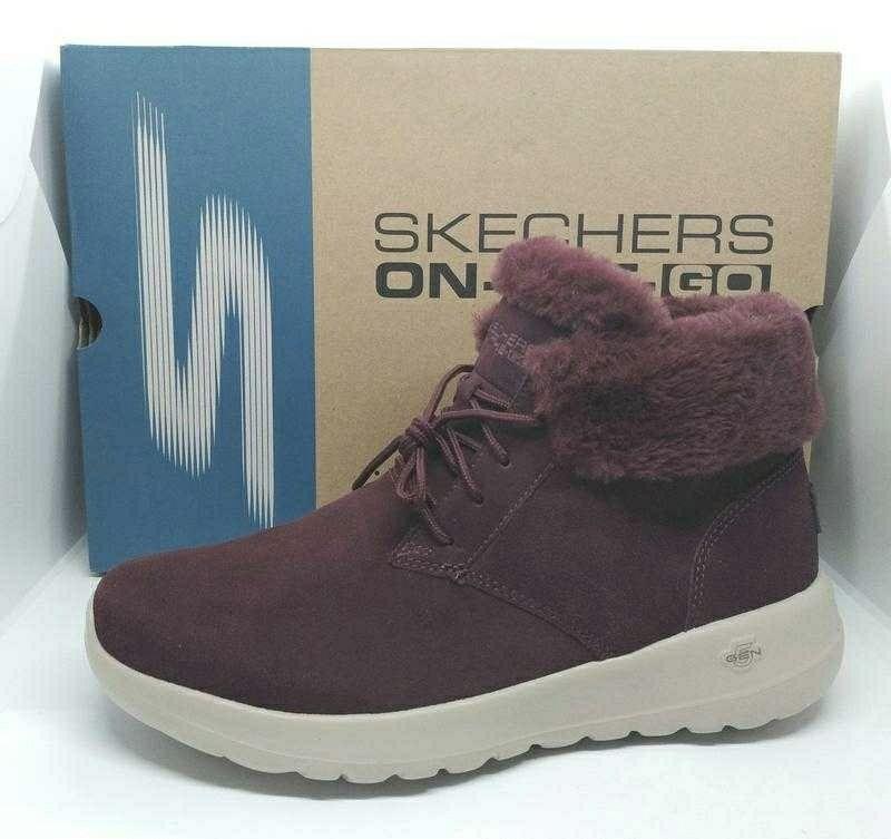 Шикарные кожаные утепленные ботинки полусапожки 37-40р Skechers Joy