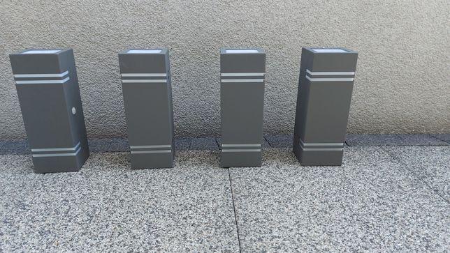 Kinkiet zewnętrzny antracyt grafit góra dół 2xGU10 czujnik zmierzchu