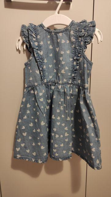 Nowa sukieneczka jeansowa rozm. 86 sukienka jeans