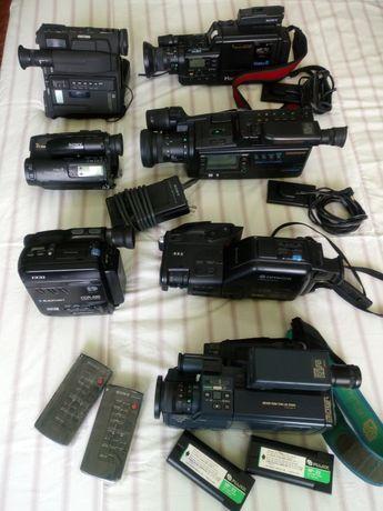Máquinas de filmar Sony e outras