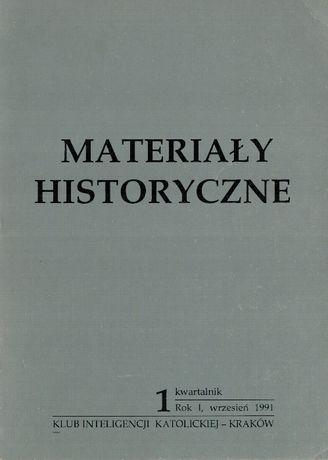 """""""Materiały historyczne"""" 1 (1991)"""