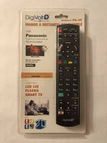 Comando para TV's LCD PLASMA LED SMART TV PANASONIC Universal! Novo !