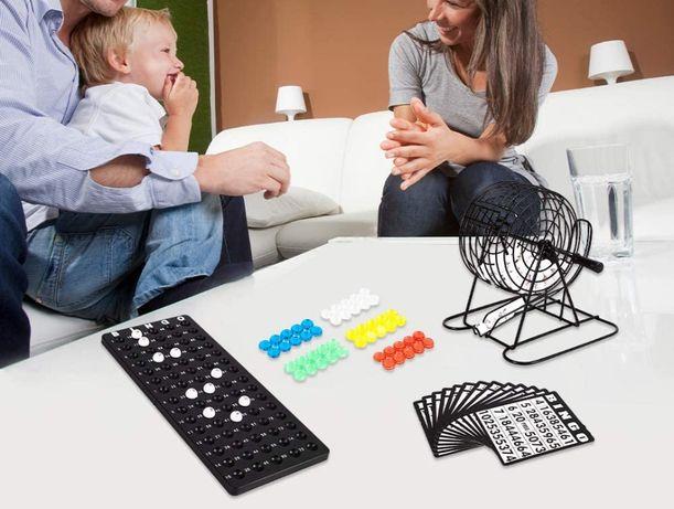 Familijna gra losowa bingo lotto rodzinna zabawa na prezent święta dom