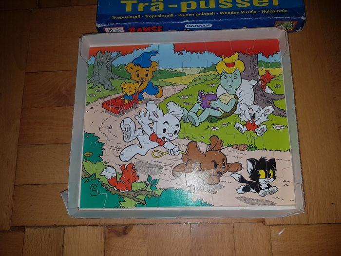 Oryginalne vintage puzzle drewniane szwedzkie Karnan Bamse 40 el Przemyśl - image 1