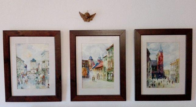 3 Akwarele z serii architektura Kazimierz Starowicz