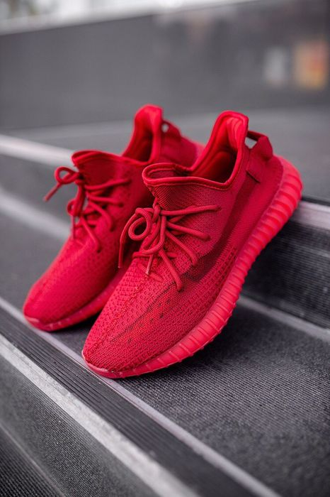 Buty Yeezy 350 Red 36-45 unisex trampki sneakersy Warszawa - image 1