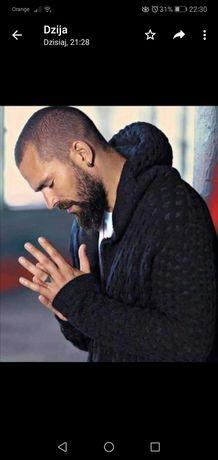 Męski długi sweter