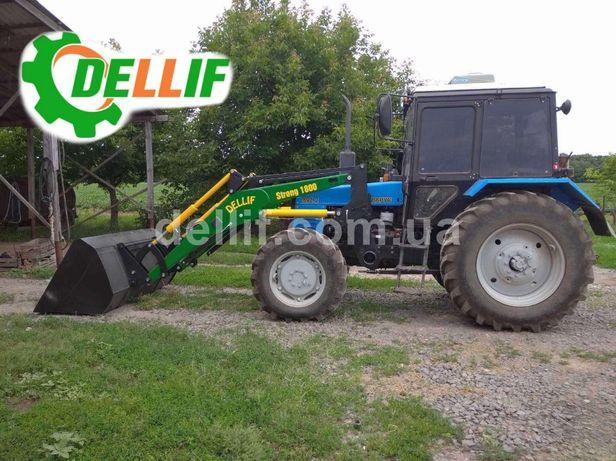 Фронтальный Погрузчик КУН на трактор МТЗ Деллиф 1800 ковш 0.8 куба