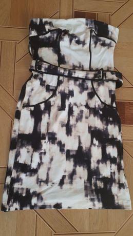 Платье mango suit платье без бретелей L- XL бандо футляр