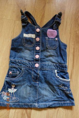Sukienka ogrodniczka jeansowa F&F