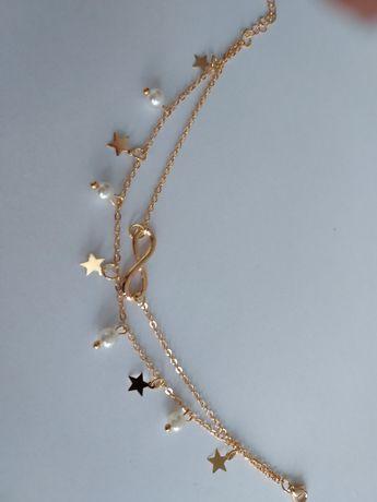 Nowa bransoletka perełki  gwiazdki i znak nieskończoności