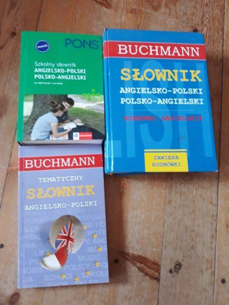 Zestaw trzech słowników polsko-angielskich