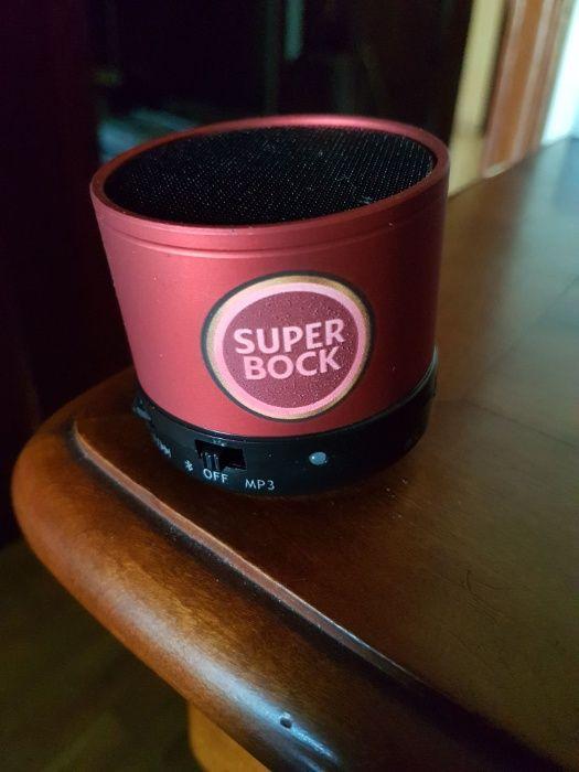 Coluna SUPERBOCK Bluetooth e por cabo