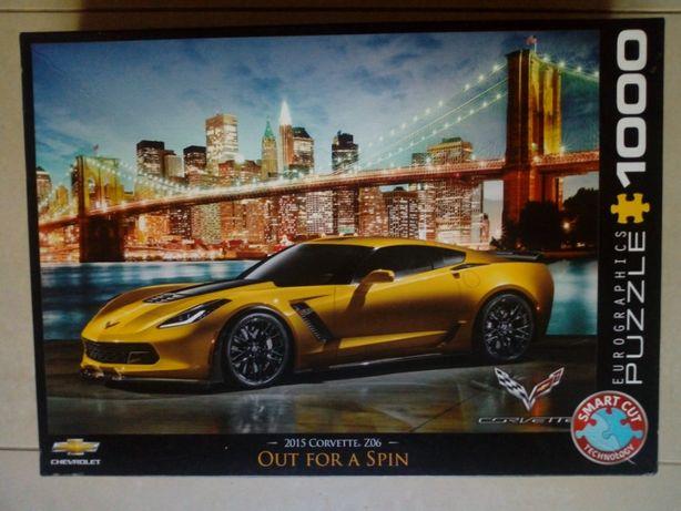 Puzzle 1000 Eurographics 2015 Corvette Z06 niekompletne