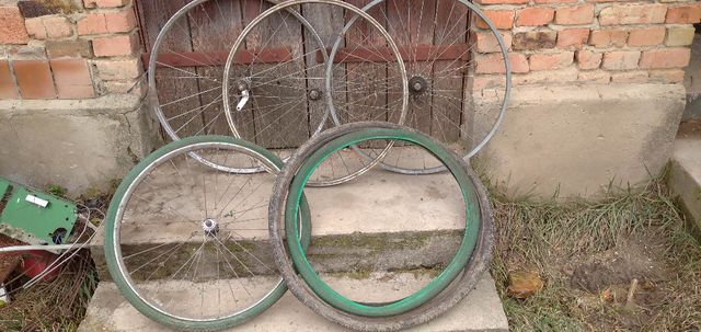 Колесо для велосипеда типа Аист, Орленок. Переднее Заднее в сборе Обод