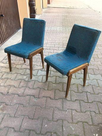 Krzeslo/ fotel Aga projektu Chierowskiego vintage retro prl
