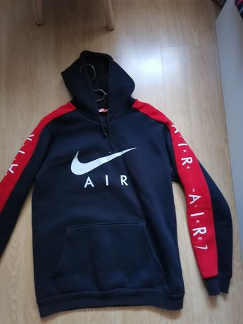 Bluza Nike hoodie M granat czerwień navy