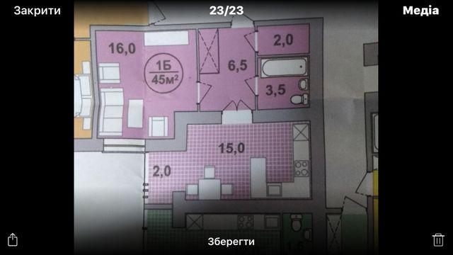 1-но кімнатна квартира в Центральній частині міста