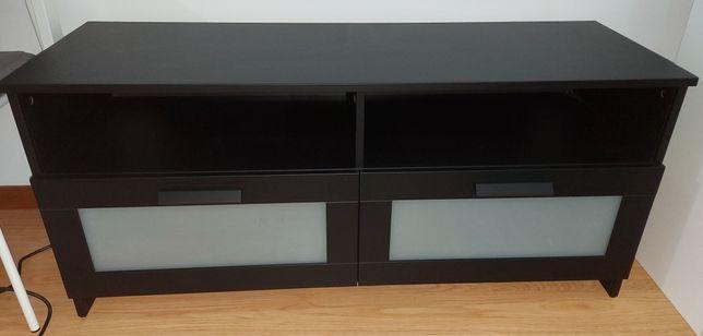 BRIMNES  Móvel TV, preto120x41x53 cm