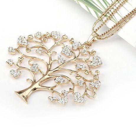 Colar dourado árvore da vida novo