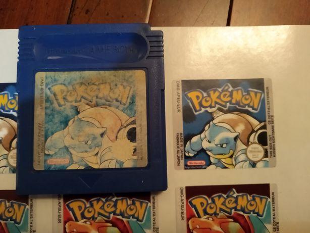 Labels (reproduções) dos cartuchos pokemon
