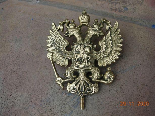 Герб царской россии .литье из бронзы.