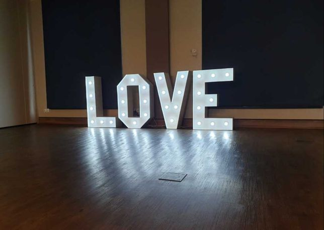 Duże SERCE led napis LOVE wielkie serce na wesele