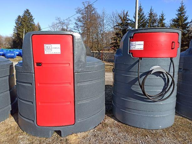 Zbiornik na paliwo 1500l 2500l dwupłaszczowy