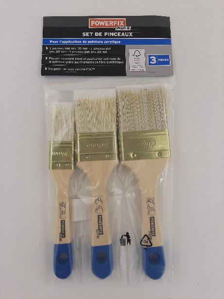 Малярні пензлі для акрилової фарби POWERFIX 3 шт (30/50/60мм) кисти