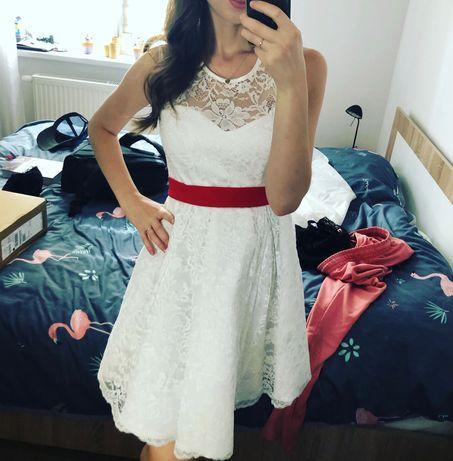 Suknia sukienka ślubna 36/38 ciążowa