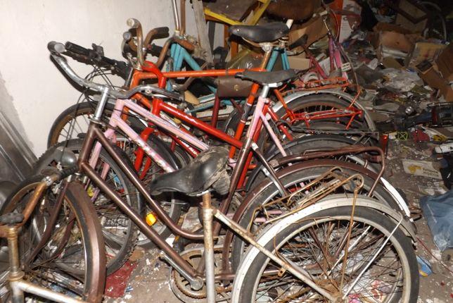 Stare rowery i części rowerowe