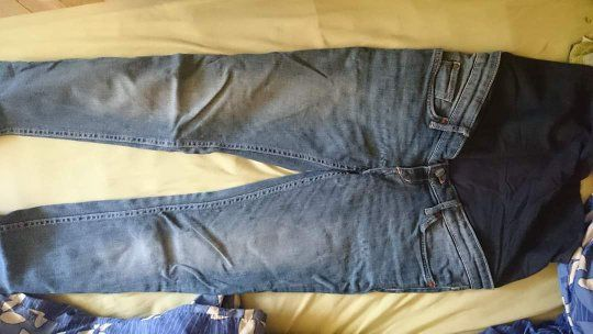 Jeansy ciążowe 38 H&M