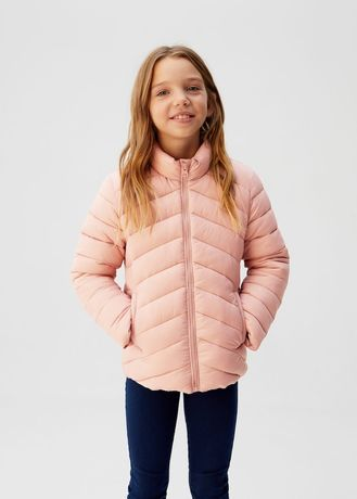 Демисезонная деми розовая пудровая куртка ветровка Mango, 10-11-12 лет